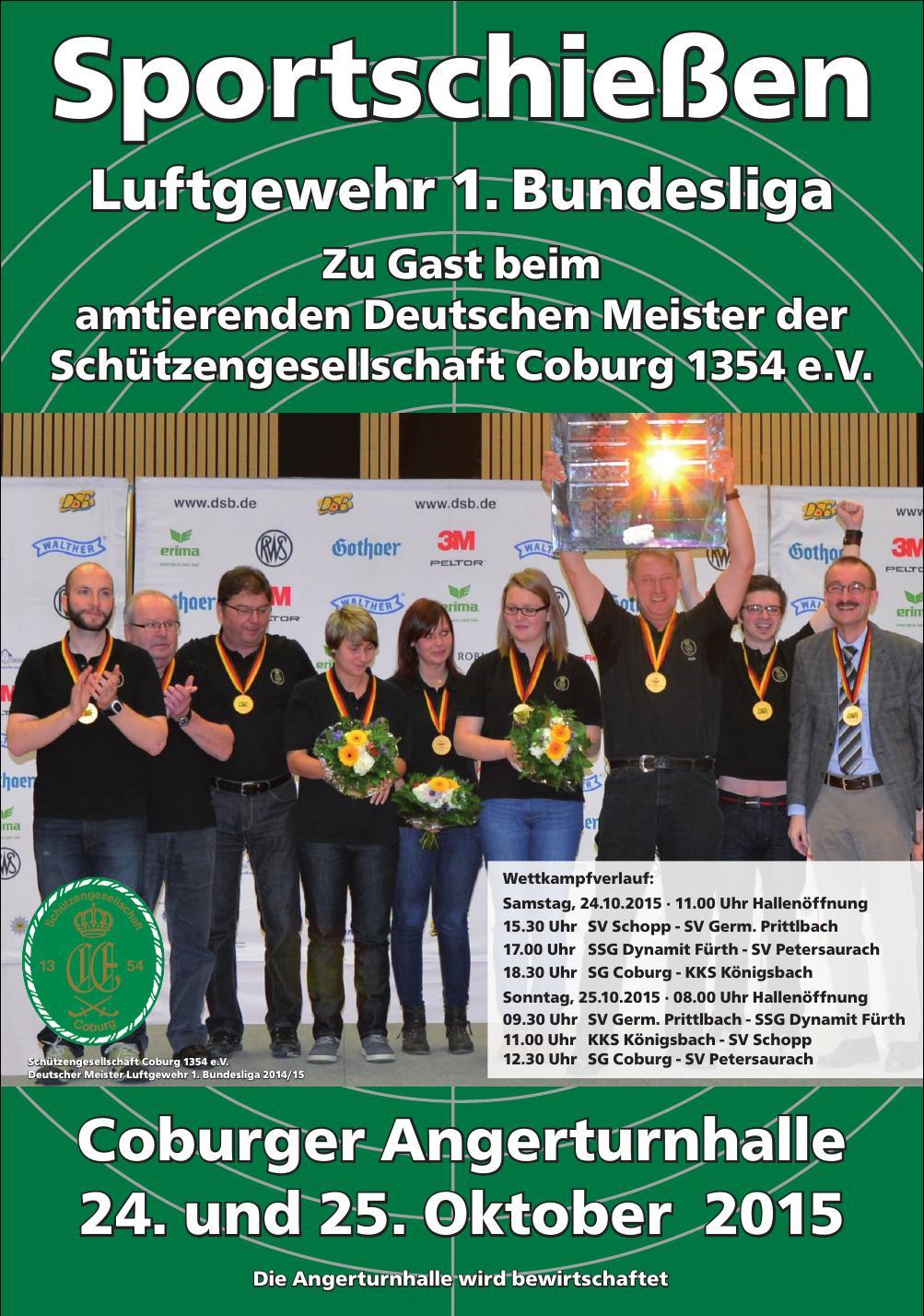 Sportschießen - Luftgewehr 1. Bundesliga